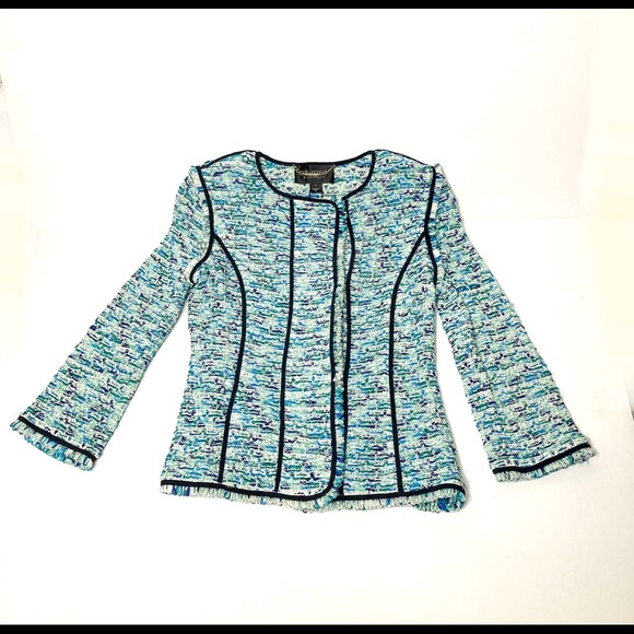 NWT St. John Couture Jade Multi Jacket (Size 4)